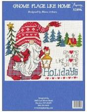 "Imaginating Cross Stitch Kit, 11""x7.5""- Happy Holidays Gnomies"