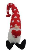Valentine Gnome w/ Red Heart Hat