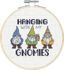 """Dimensions Cross Stitch Kit, 6""""- Gnomies"""