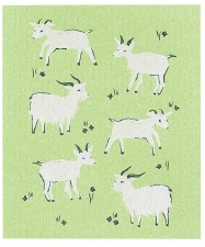 Swedish Dishcloth- Goats