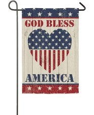 Garden Flag, Suede- God Bless America Heart