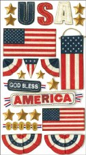 Jolee's Patriotic Dimensional Stickers- God Bless America
