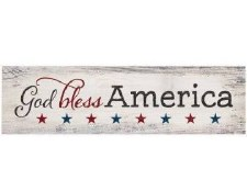 Skinny & Small Wood Sign- God Bless America