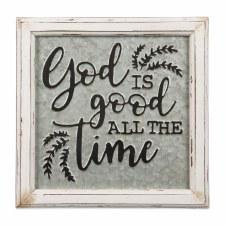 Embossed Metal Sign- God Is Good