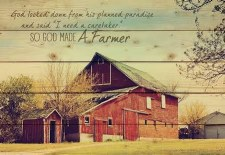 Pallet Decor- God Made a Farmer