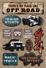 Cardstock Stickers- Going Off Road