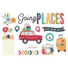 Simple Pages: Page Pieces Die Cuts- Going Places