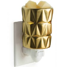 Pluggable Fragrance Warmer- Gold Facets