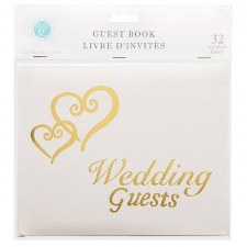 Guest Book- Wedding Guests, Gold