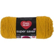 Red Heart Super Saver Yarn- Gold