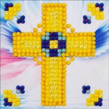Diamond Facet Art Starter Kit- Golden Cross