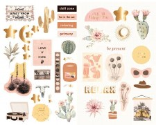 Golden Desert Stickers- Chipboard
