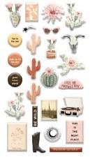 Golden Desert Stickers- Puffy