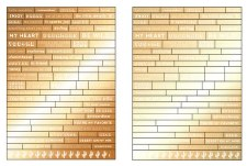 Golden Desert Stickers- Gold Words
