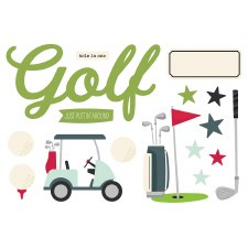 Simple Pages: Page Pieces Die Cuts- Golf