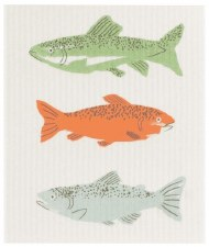 Swedish Dishcloth- Gone Fishin'