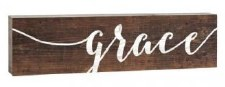 Skinny & Small Wood Sign- Grace