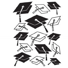 Darice Embossing Folder- Celebrations- Graduation Hats