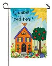 Garden Flag, Suede- Grandkids Loved Here