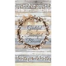 Fabric Panel- Grateful Thankful Blessed