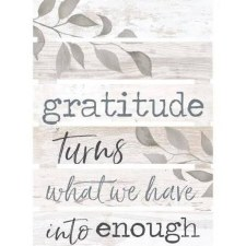 Pallet Decor- Gratitude Turns What We Have Into Enough