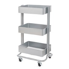 Rolling Utility Cart- Gray