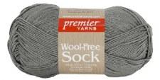 Wool Free Sock Yarn- Gray