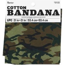 "Cotton Bandana 21""x21""- Green Camo"