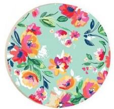 Car Coaster- Floral Print, Aqua