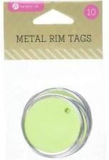Hampton Art Metal Rim Tags- Green