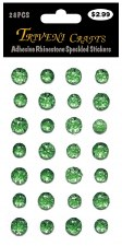 Adheisve Rhinestones- Speckled, Green