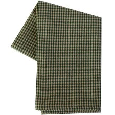 "Mini Check 20""x28"" Tea Towel- Teadye & Green"