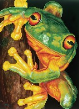 Diamond Facet Art Kit- Green Tree Frog