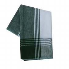 "McLeod Stripe 20""x28"" Tea Towel- White & Green"