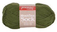 Wool Free Sock Yarn- Green