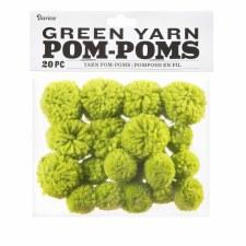 Yarn Pom-Poms- Green
