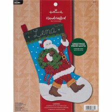 Bucilla Felt Stocking Kit- Greetings from Santa
