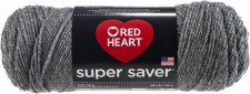 Red Heart Super Saver Yarn- Grey Heather