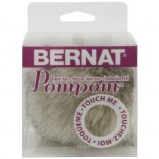 Faux Fur Pom Pom- Grey Linx