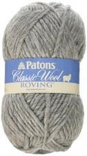 Patons Classic Wool Roving Yarn- Grey