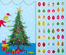 Christmas & Winter Fabric Panel- The Grinch Advent Calendar