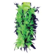 Feather Boa, 6ft- Green & Purple