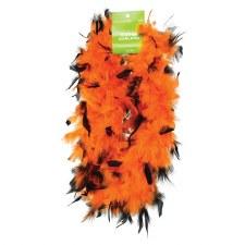 Feather Boa, 6ft- Orange & Black