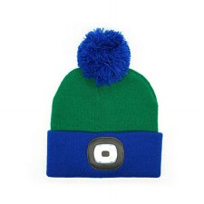 Night Owl Kid's Rechargeable LED Beanie - Green