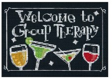 """Dimensions Cross Stitch Kit, 7""""x5""""- Group Therapy"""