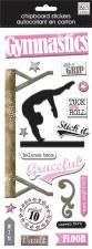 MAMBI Chipboard Stickers- Gymnastics