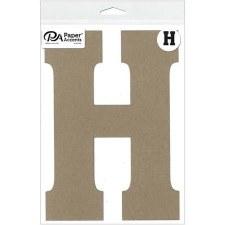 "8"" Chipboard Letter- H"