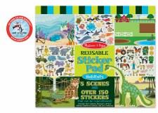 Melissa & Doug Reusable Sticker Pad- Habitats