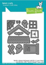Lawn Fawn Build-a-House Craft Dies Add-On- Halloween