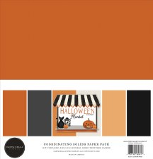 Halloween Market Solids Paper Kit